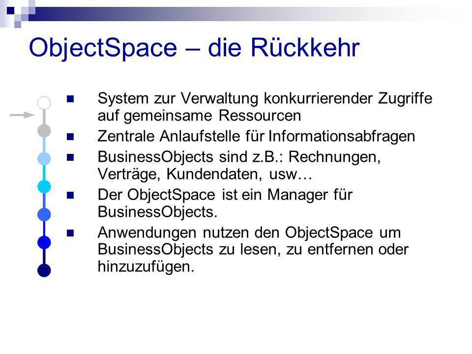 ObjectSpace – die Rückkehr