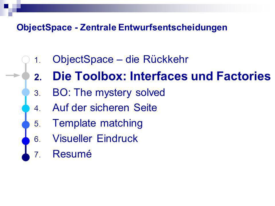 ObjectSpace - Zentrale Entwurfsentscheidungen