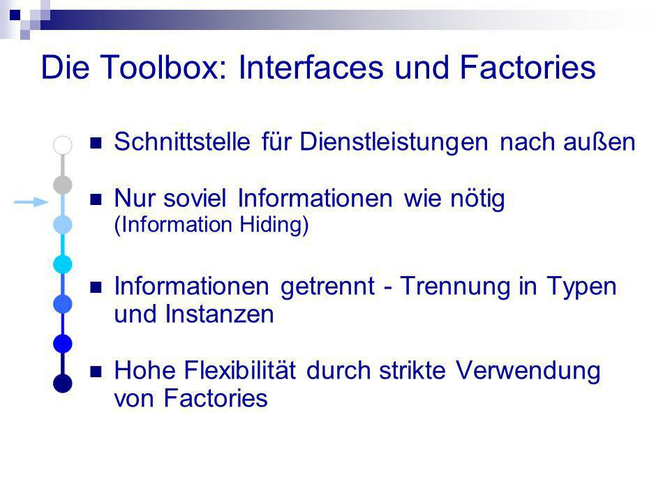 Die Toolbox: Interfaces und Factories