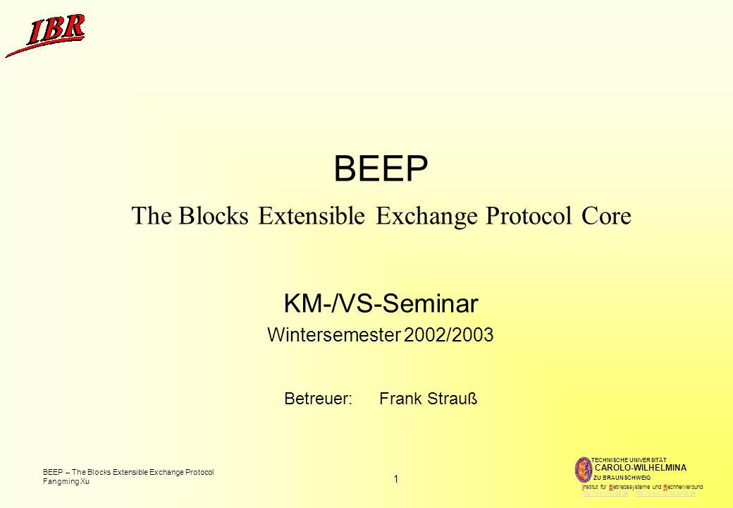 BEEP The Blocks Extensible Exchange Protocol Core