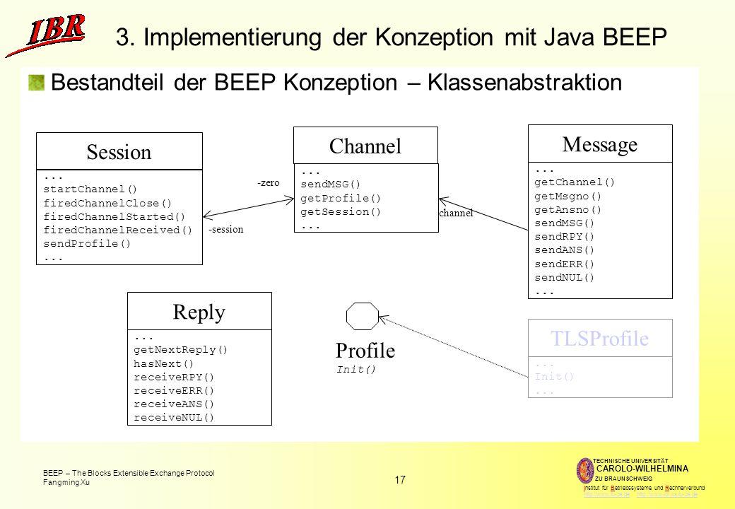 3. Implementierung der Konzeption mit Java BEEP