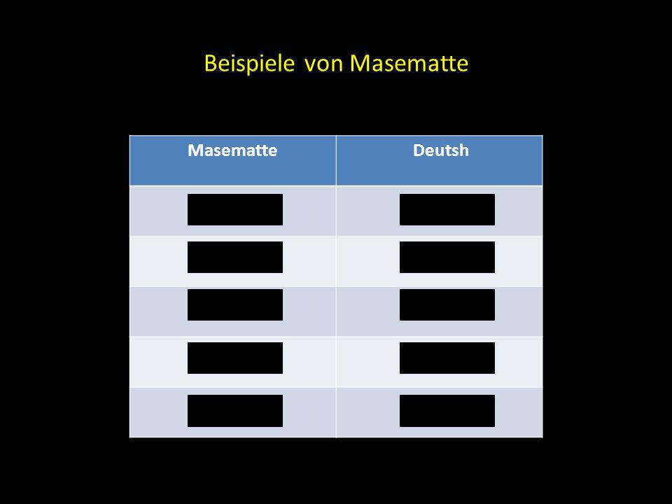 Beispiele von Masematte