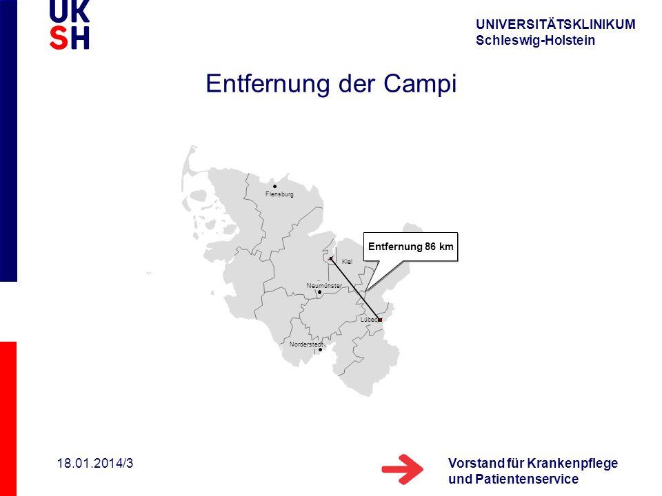 Entfernung der Campi 27.03.2017/3 Entfernung 86 km Flensburg Kiel