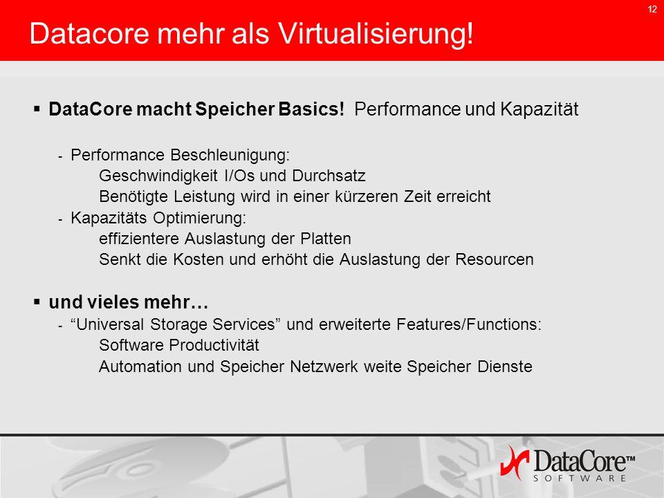 Datacore mehr als Virtualisierung!