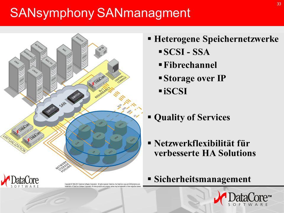 SANsymphony SANmanagment