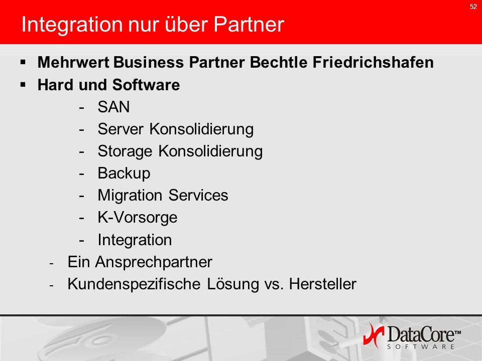Integration nur über Partner
