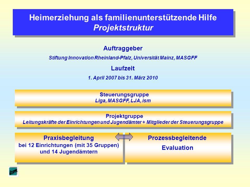 Heimerziehung als familienunterstützende Hilfe Projektstruktur