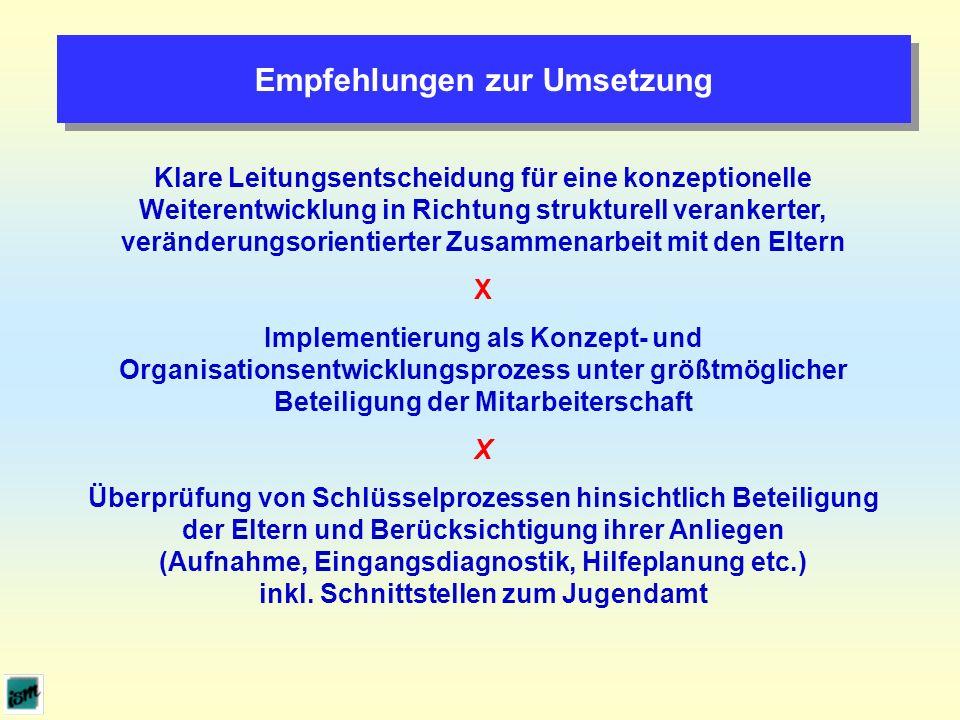 Empfehlungen zur Umsetzung
