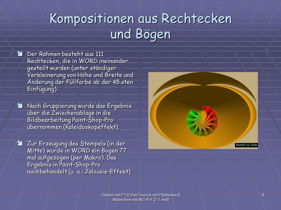 Kompositionen aus Rechtecken und Bögen