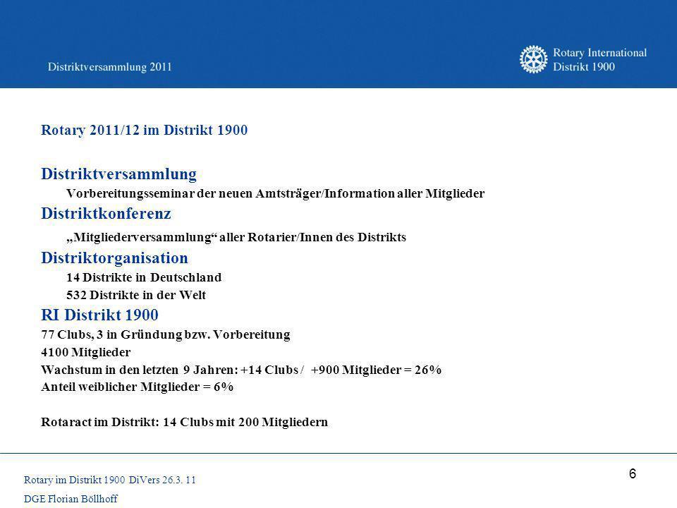 """""""Mitgliederversammlung aller Rotarier/Innen des Distrikts"""