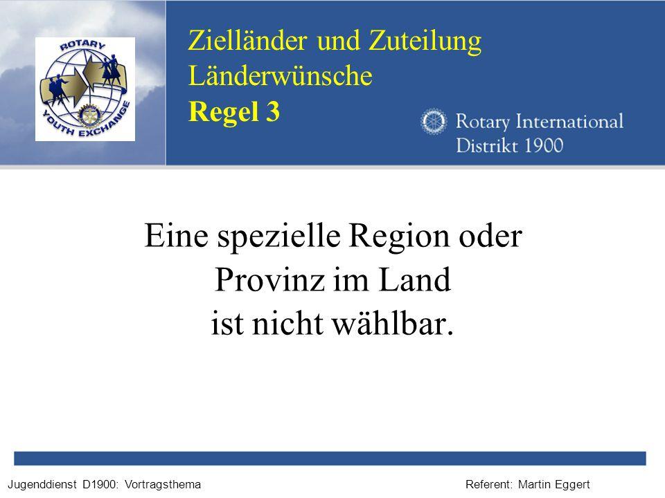 Eine spezielle Region oder