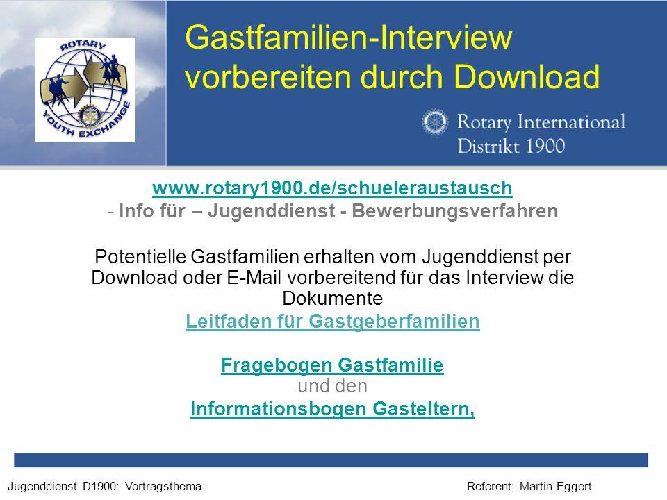 Gastfamilien-Interview vorbereiten durch Download
