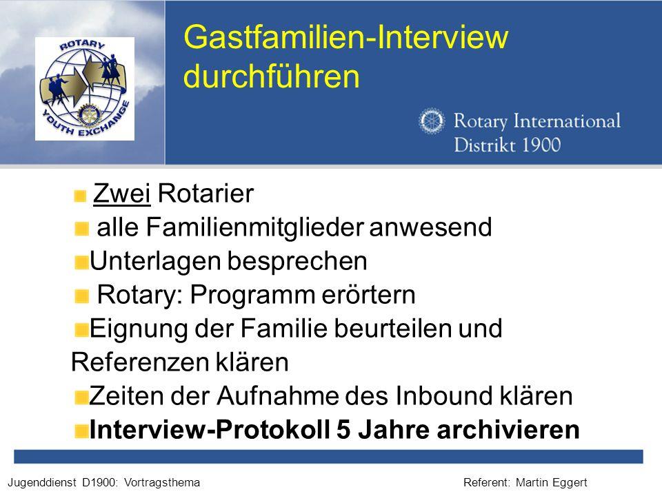 Gastfamilien-Interview durchführen