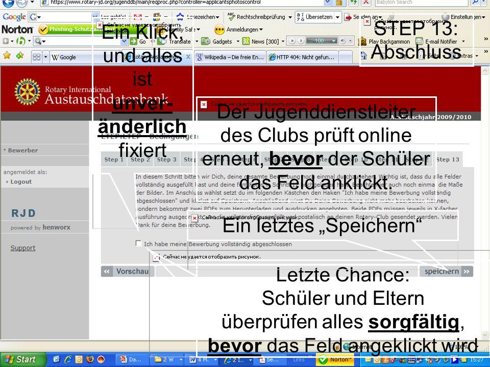 Der Jugenddienstleiter des Clubs prüft online
