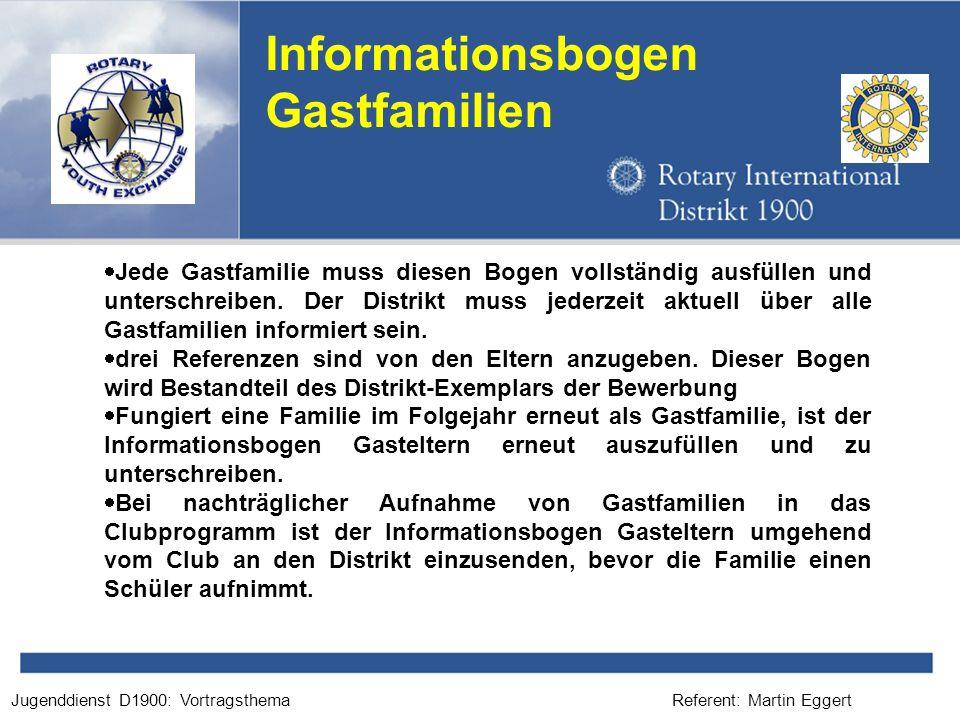 Informationsbogen Gastfamilien