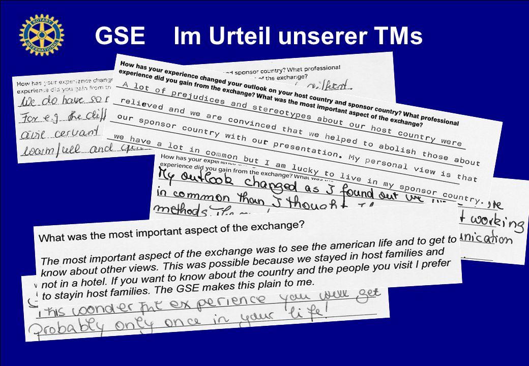 GSE Im Urteil unserer TMs