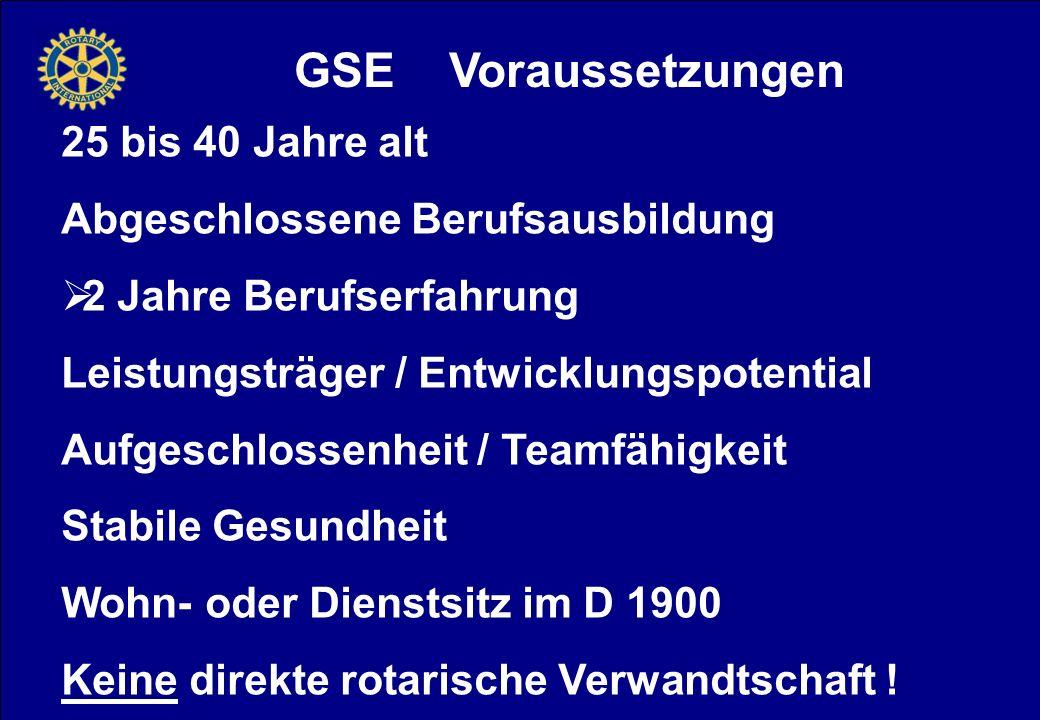 GSE Voraussetzungen 25 bis 40 Jahre alt