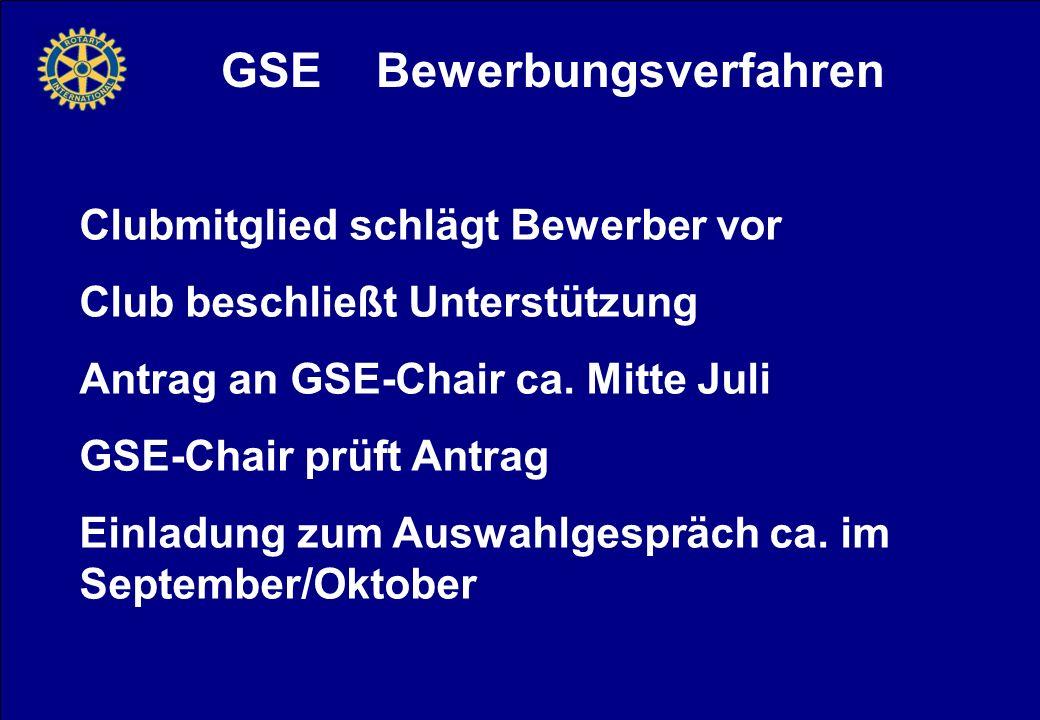GSE Bewerbungsverfahren