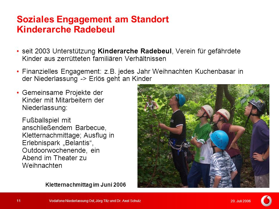 Soziales Engagement am Standort Kinderarche Radebeul