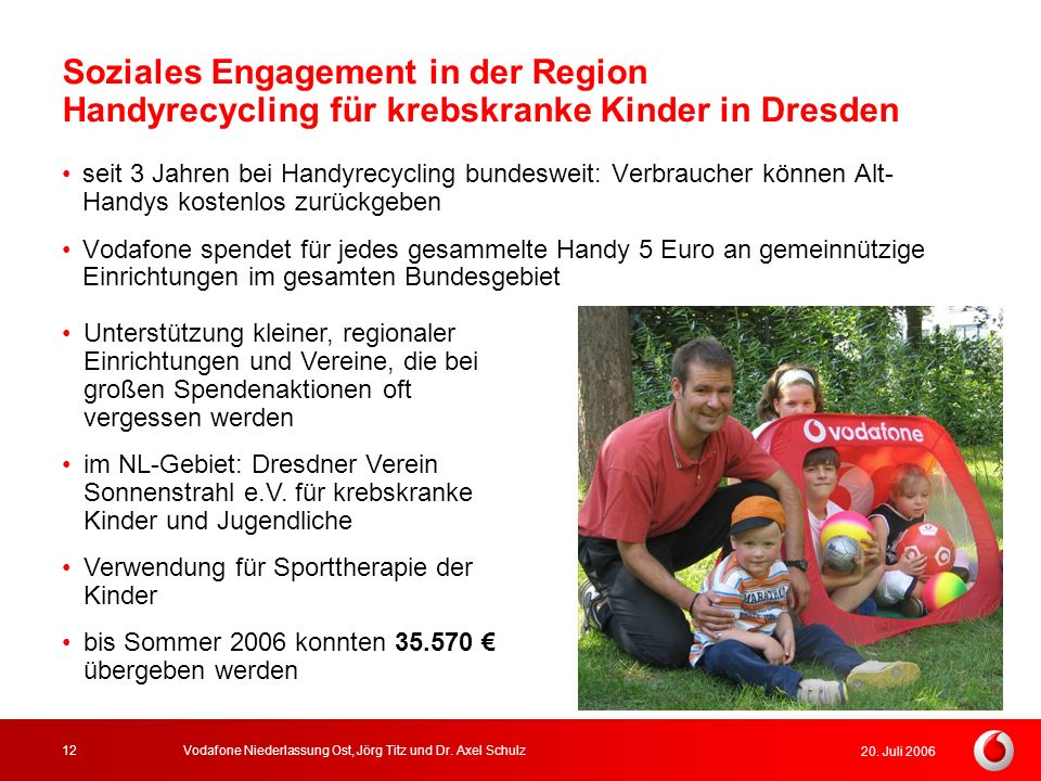 Soziales Engagement in der Region Handyrecycling für krebskranke Kinder in Dresden