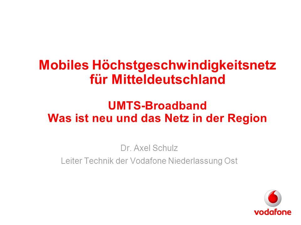 Dr. Axel Schulz Leiter Technik der Vodafone Niederlassung Ost