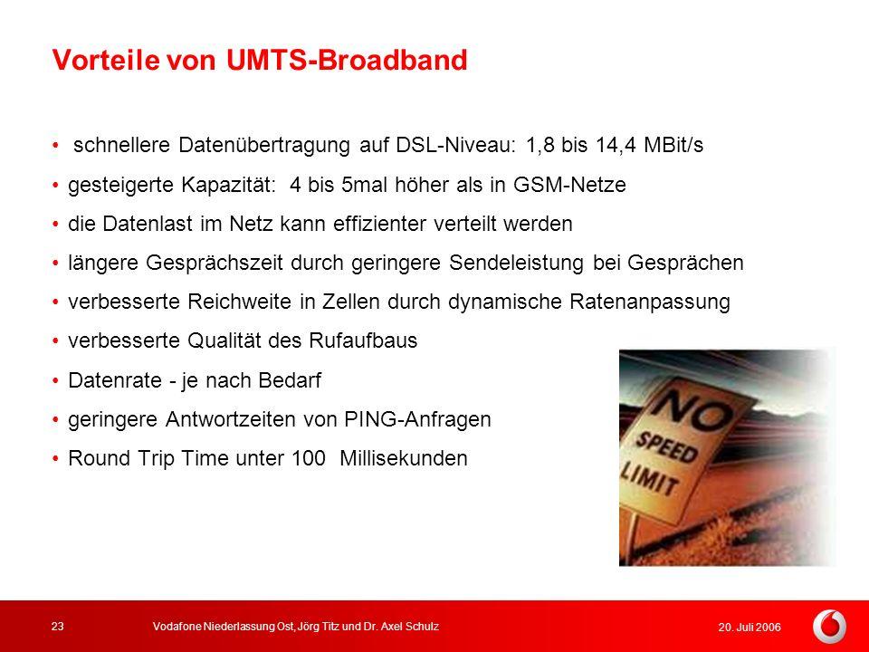 Vorteile von UMTS-Broadband