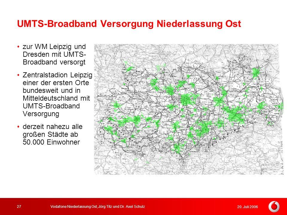 UMTS-Broadband Versorgung Niederlassung Ost