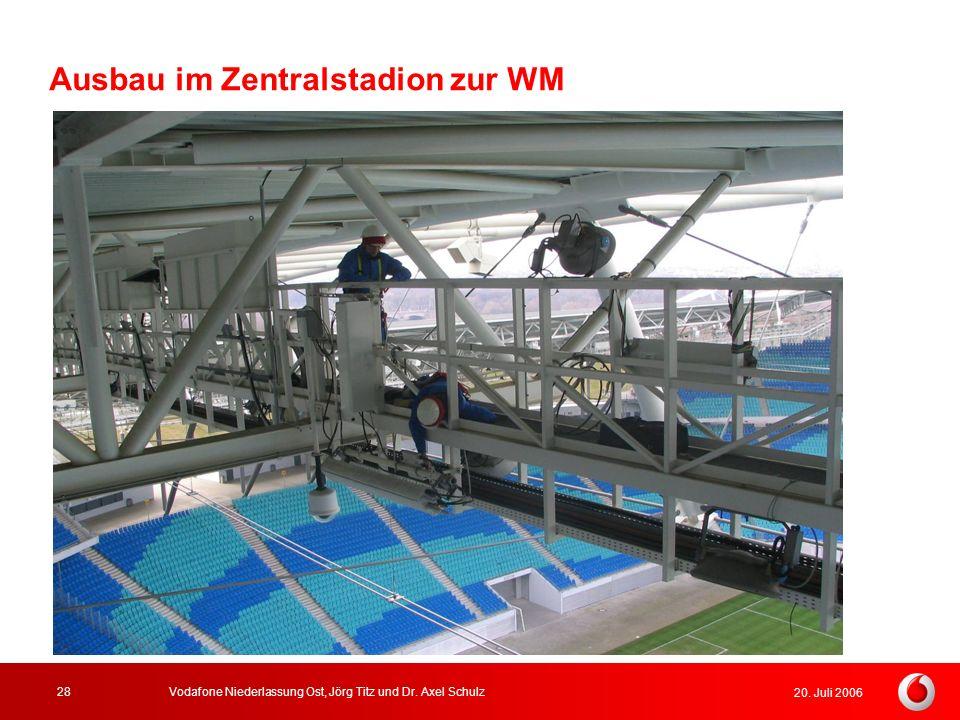 Ausbau im Zentralstadion zur WM