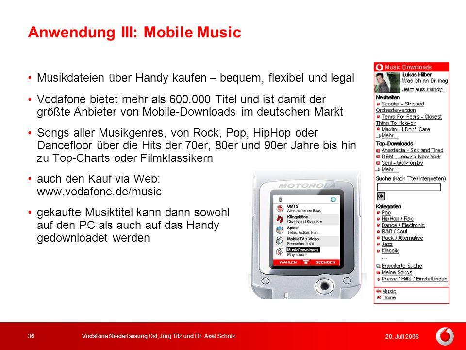 Anwendung III: Mobile Music