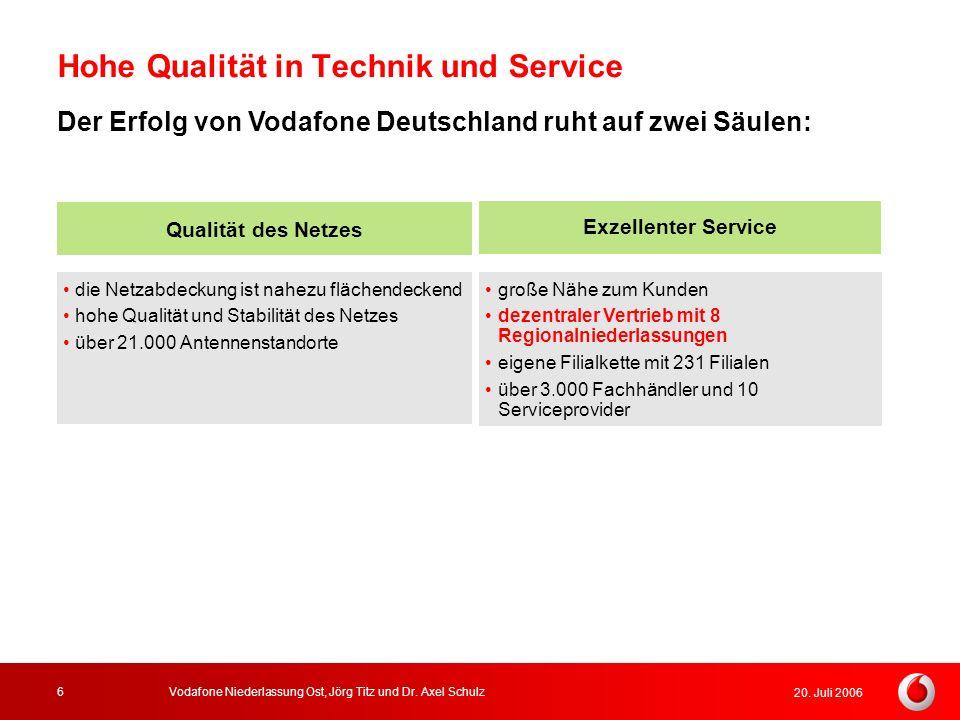 Hohe Qualität in Technik und Service