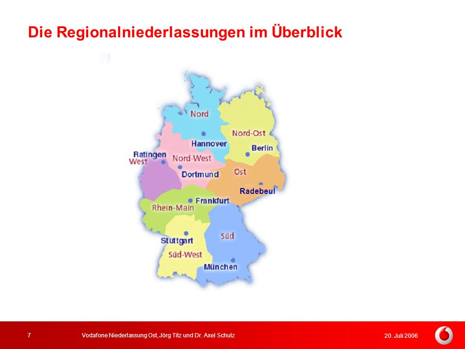 Die Regionalniederlassungen im Überblick