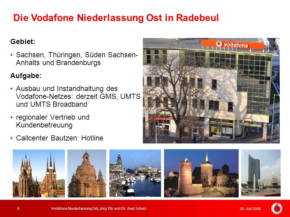 Die Vodafone Niederlassung Ost in Radebeul