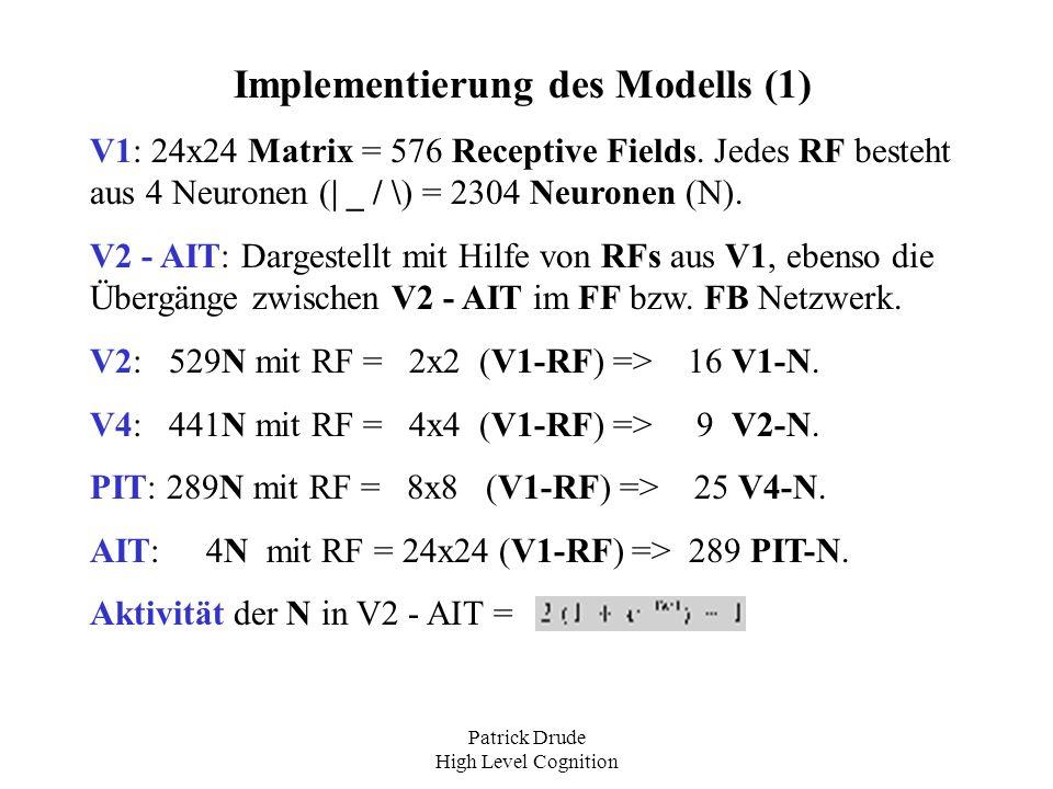 Implementierung des Modells (1)