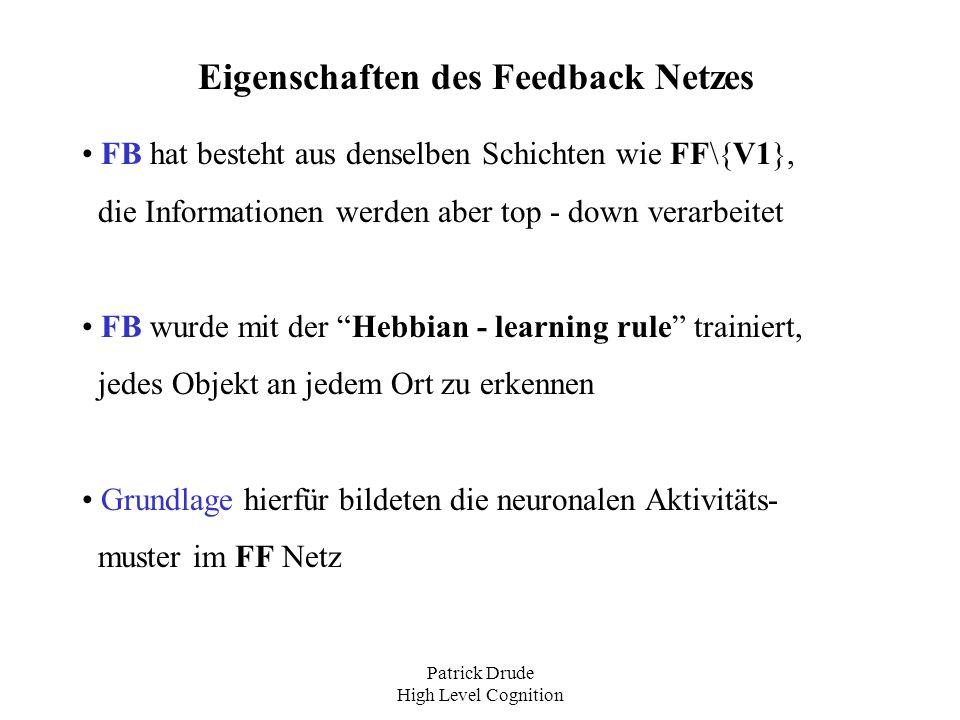Eigenschaften des Feedback Netzes