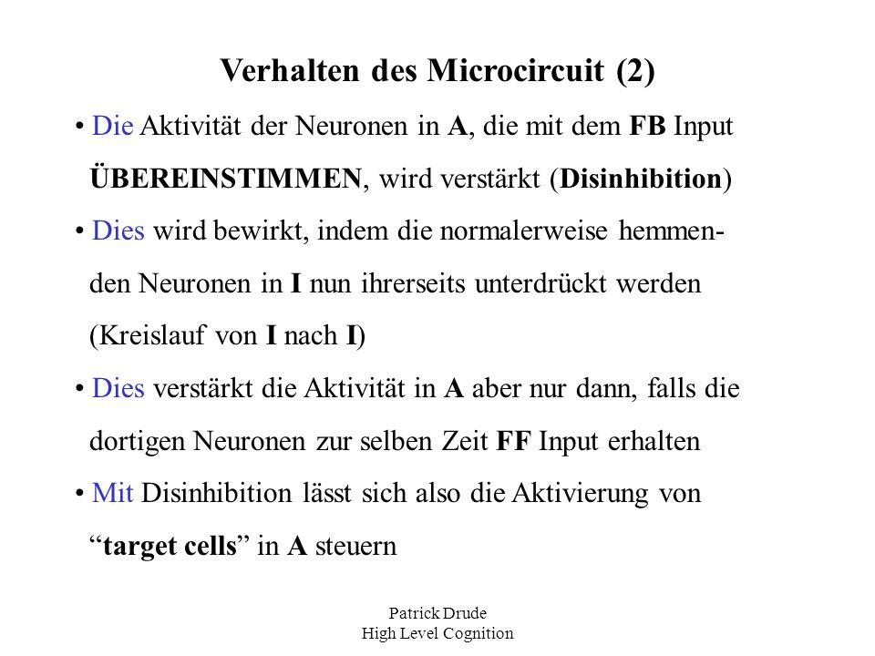 Verhalten des Microcircuit (2)