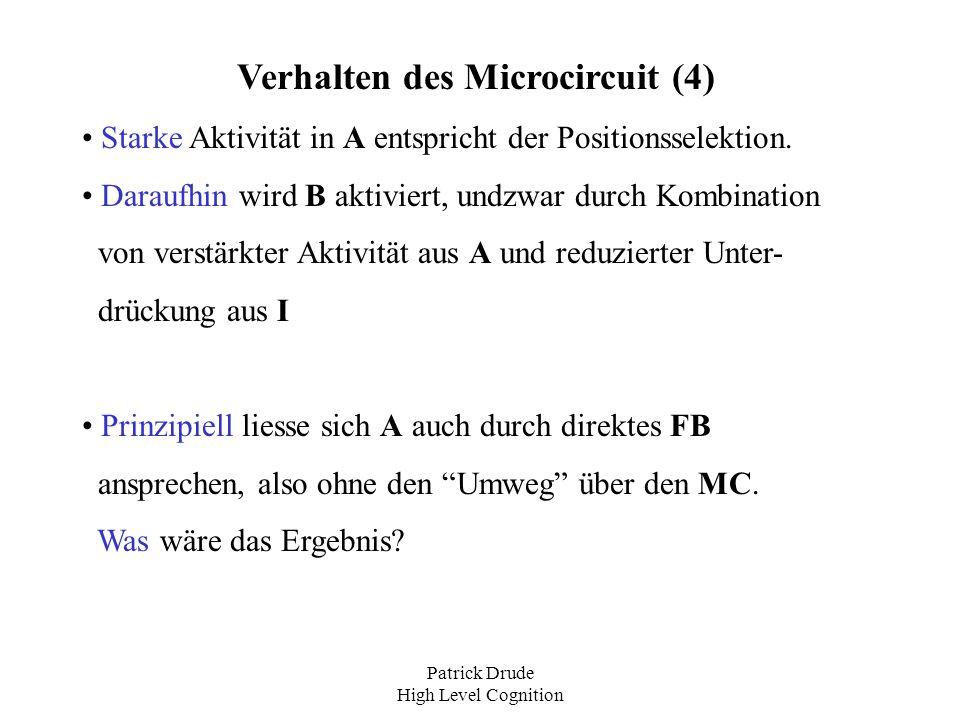Verhalten des Microcircuit (4)