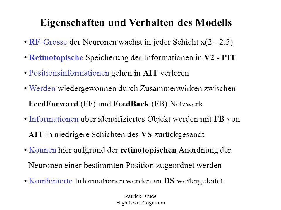 Eigenschaften und Verhalten des Modells