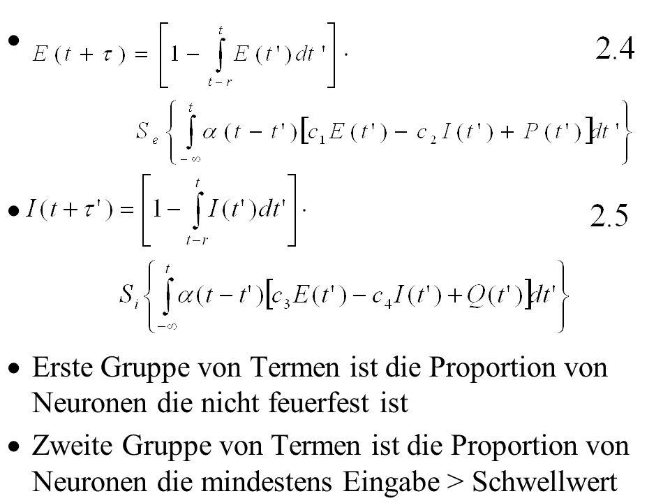 Erste Gruppe von Termen ist die Proportion von Neuronen die nicht feuerfest ist