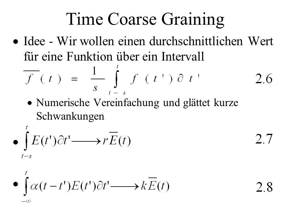 Time Coarse GrainingIdee - Wir wollen einen durchschnittlichen Wert für eine Funktion über ein Intervall.
