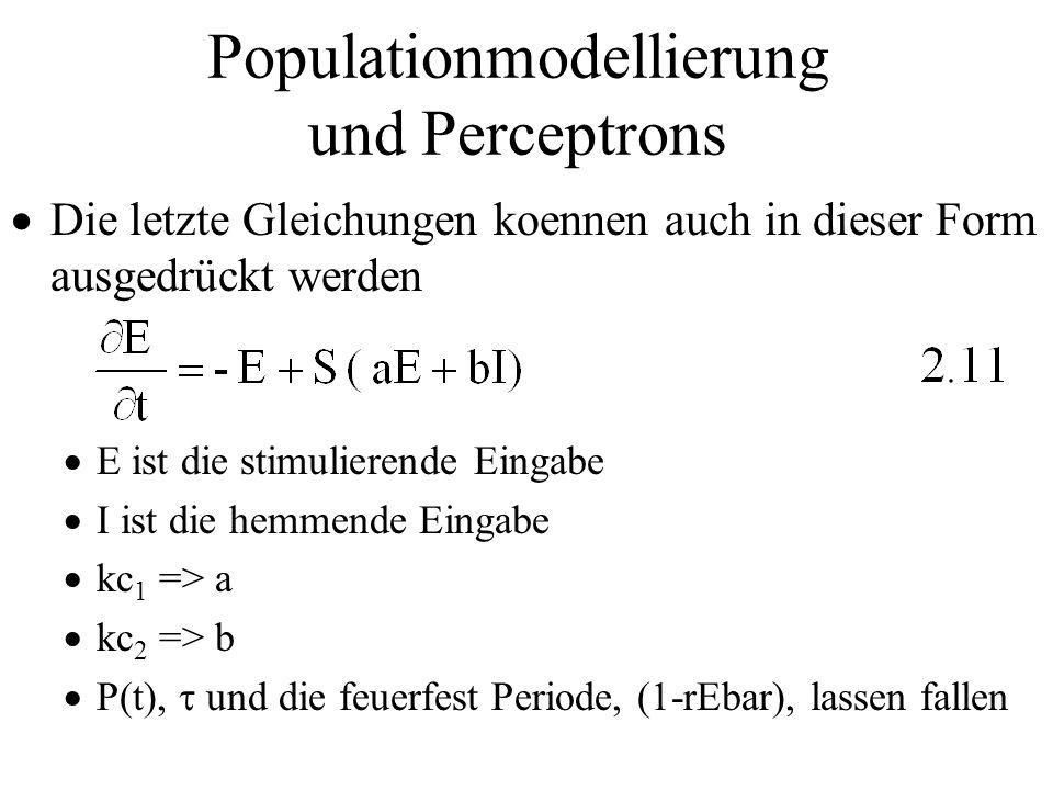 Populationmodellierung und Perceptrons