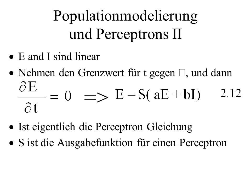 Populationmodelierung und Perceptrons II