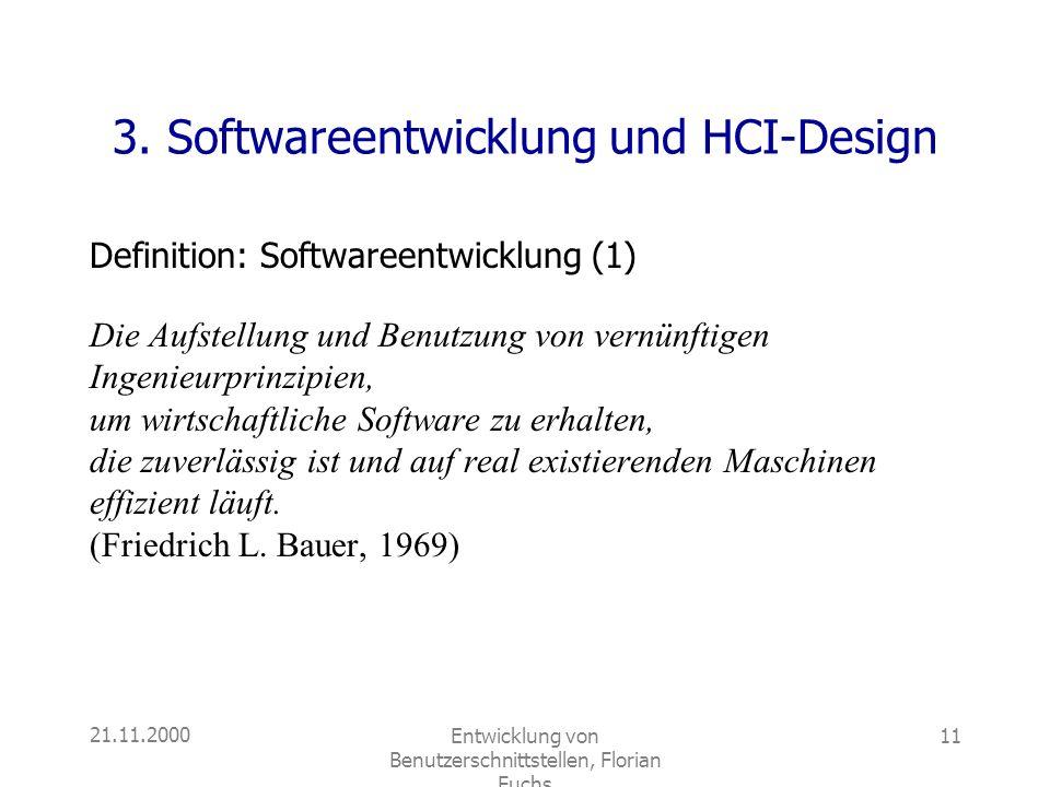 3. Softwareentwicklung und HCI-Design