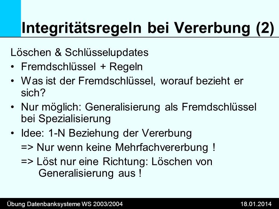Integritätsregeln bei Vererbung (2)