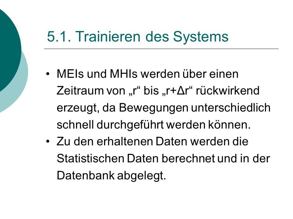 5.1. Trainieren des Systems