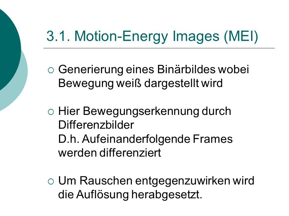 3.1. Motion-Energy Images (MEI)