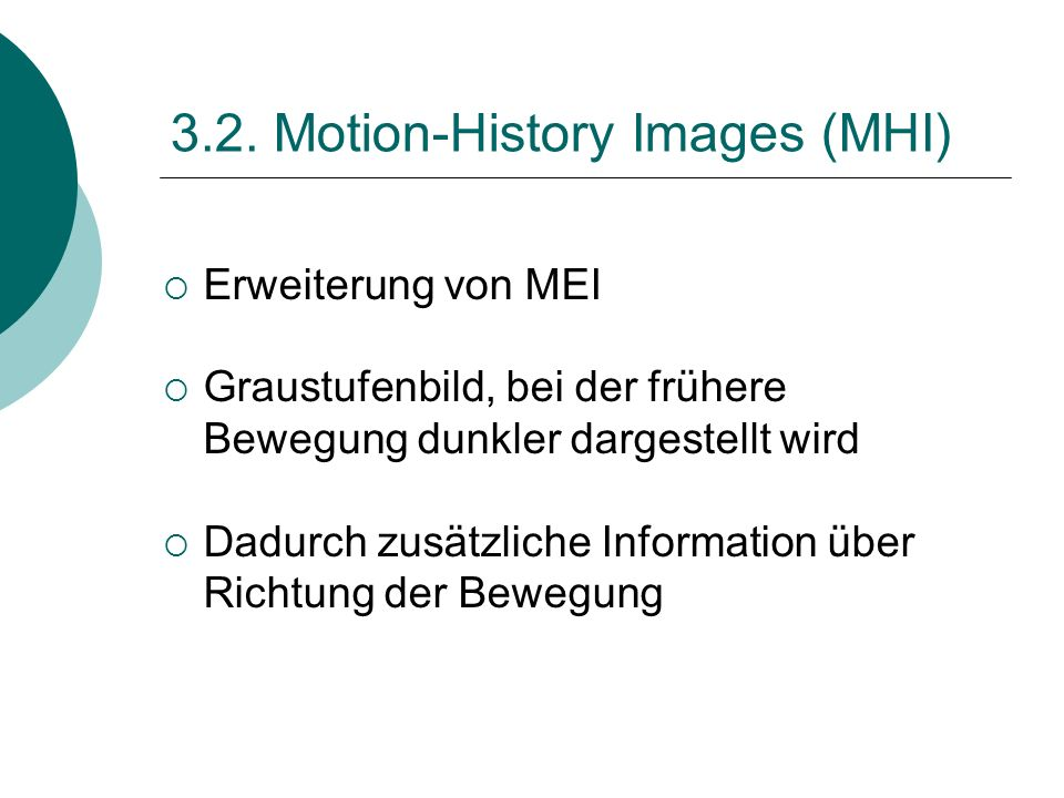 3.2. Motion-History Images (MHI)