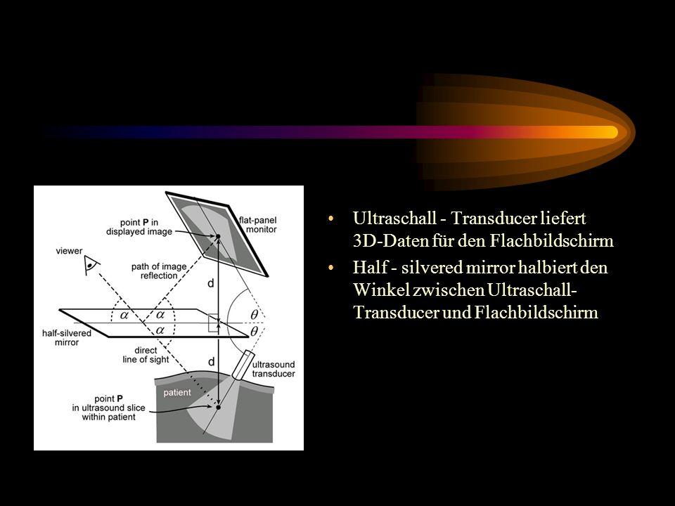 Ultraschall - Transducer liefert 3D-Daten für den Flachbildschirm
