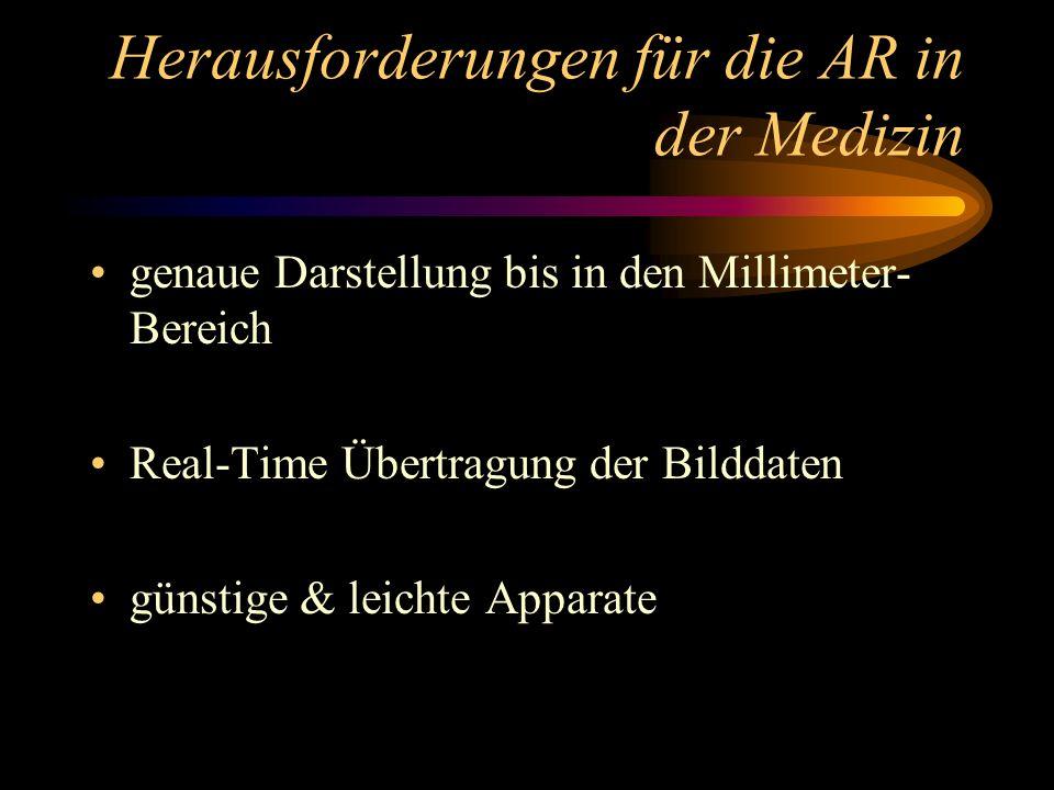 Herausforderungen für die AR in der Medizin
