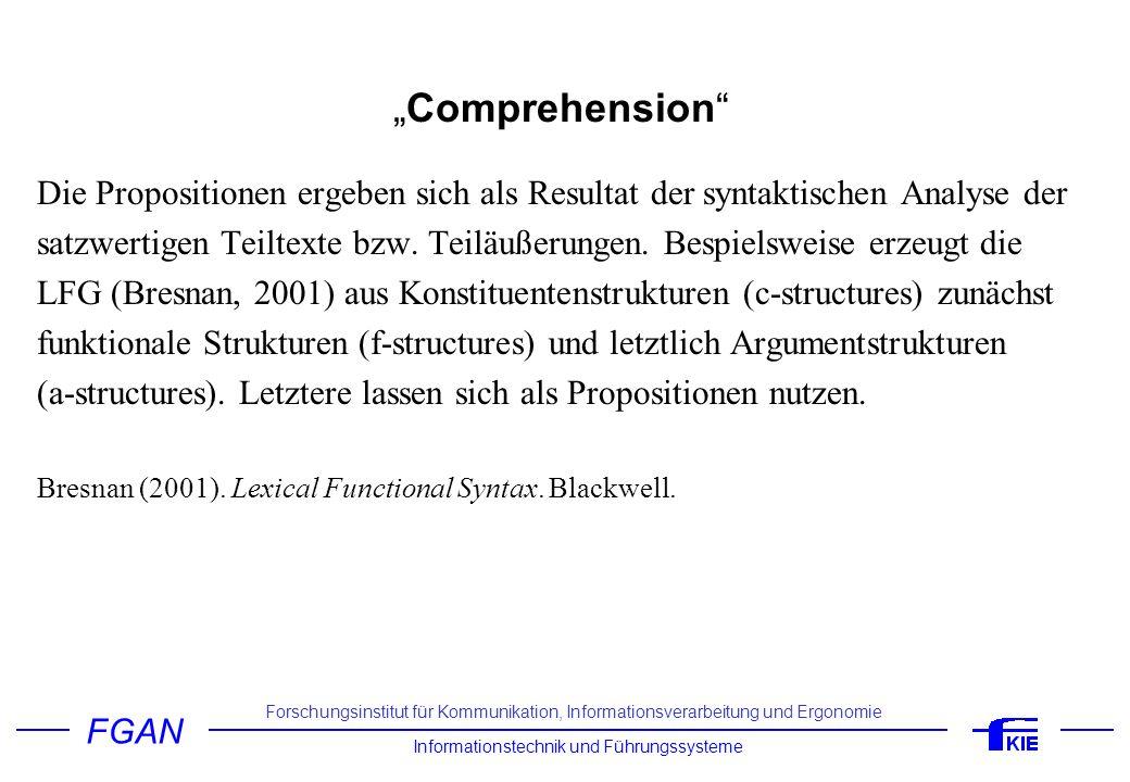 """""""Comprehension Die Propositionen ergeben sich als Resultat der syntaktischen Analyse der."""