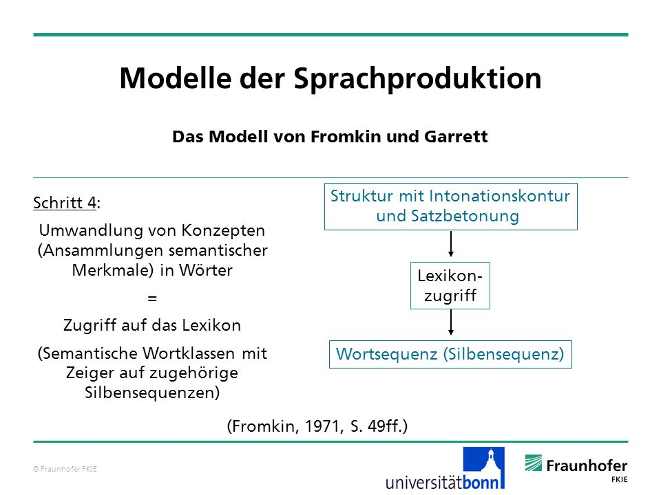 Modelle der Sprachproduktion